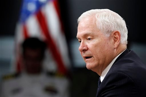 Secretary of Defense Robert M. Gates speaks during a media availability at the Pentagon Wednesday, May 18, 2011 in Washington.