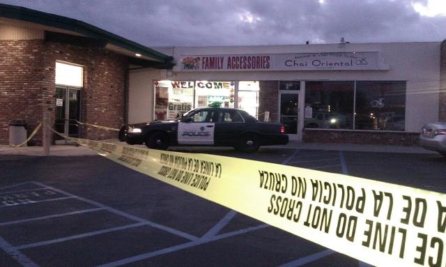 Scene of alleged armed robbery and sexual assault.