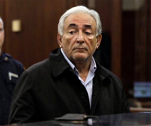 In this May 16, 2011 file photo, Dominique Strauss-Kahn, head of the International Monetary Fund, is arraigned in Manhattan Criminal Court. (AP Photo/Richard Drew, Pool)