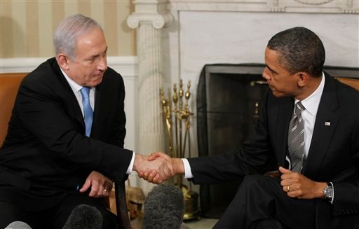 President Barack Obama meets with Prime Minister Benjamin Netanyahu of Israel in the Oval Office at the White House in Washington, Friday, May 20, 2011.