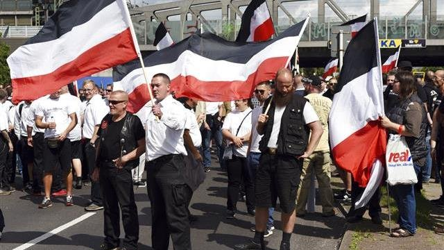 Neo-Nazis From Across Europe March in Berlin, Counter-Rally Underway