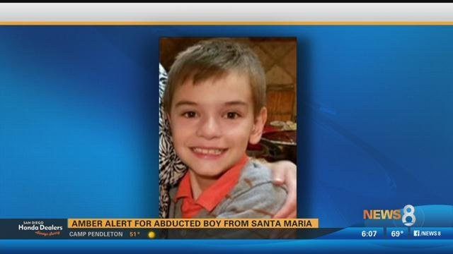Amber Alert issued for 9-year-old boy taken in Santa Maria