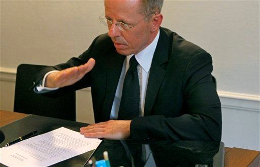Canadian John Clemes, brother of victim Brad speaks during an interview with APTN after The BEA report, Friday May 27, 2011 in Paris, France.  (AP Photo/Jacques brinon)