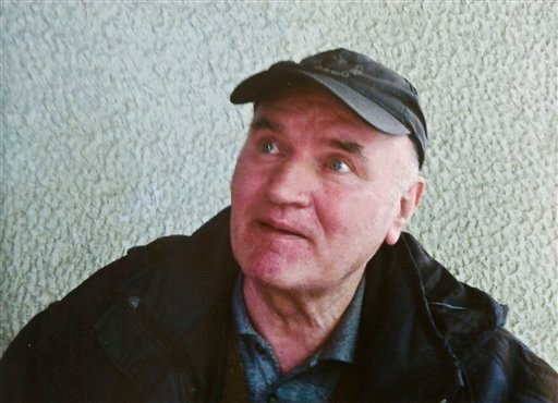 In this photo provided by the Politika Newspaper, Bosnian Serb army commander Ratko Mladic, who was arrested Thursday, May 26, 2011, in Serbia after years in hiding. (AP Photo/Politika Newspaper)