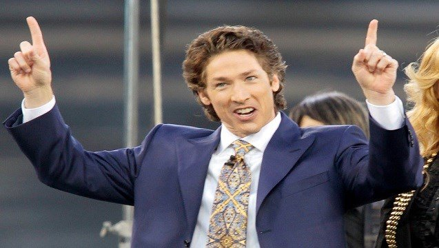 "Lakewood Church pastor Joel Osteen at Dodger Stadium during his ""A Night of Hope"" in Los Angeles."