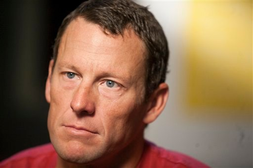 "FILE - This Feb. 15, 2011, file photo shows Lance Armstrong during an interview in Austin, Tx. Attorneys for Armstrong have demanded an on-air apology from ""60 Minutes"" after the head of Switzerland's anti-doping laboratory denied allegations."