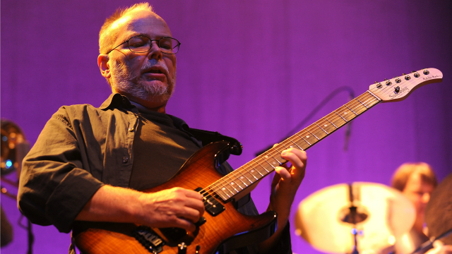 Walter Becker performing at 'Collaborating for a Cure' the Samuel Waxman Cancer Research Foundation Benefit Concert on Thursday, Nov. 20, 2008 in New York. (AP Photo/Evan Agostini)