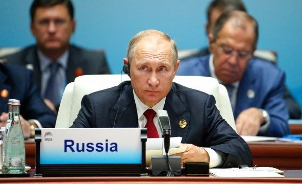 Russian President Vladimir Putin attends the Dialogue of Emerging Market and Developing Countries.