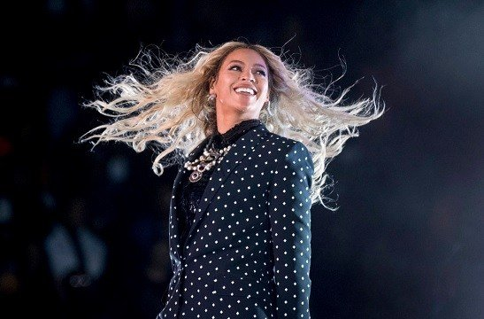 Beyonce performs at a Get Out the Vote concert for Democratic presidential candidate Hillary Clinton in Cleveland.