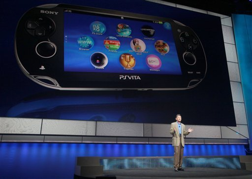 In this photograph was taken by AP Images for Sony Computer Entertainment America - Kazuo Hirai, President and Group CEO of Sony Computer Entertainment, introduces the company's next generation portable gaming machine, PlayStation Vita.