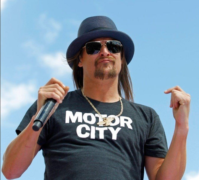 Kid Rock performs before the Daytona 500 NASCAR Sprint Cup series auto race at Daytona International Speedway.