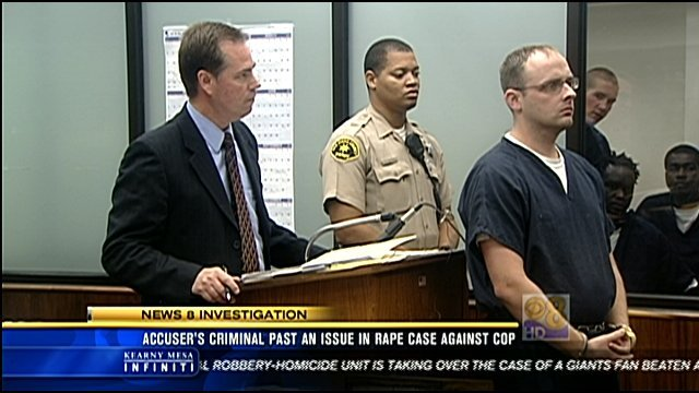 Daniel Dana, pictured right, resigned from his job as a San Diego police officer when he was arrested May 11 and charged with rape and oral copulation under color of authority, assault, and false imprisonment.