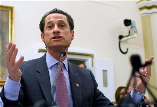 In this Jan. 6, 2011 file photo, Rep. Anthony Weiner, D-N.Y., testifies before the House Rules Committee on Capitol Hill in Washington. A spokesman for Weiner on Sunday, May 29, 2011 said that a lewd photograph sent from the Democrat's Twitter account is