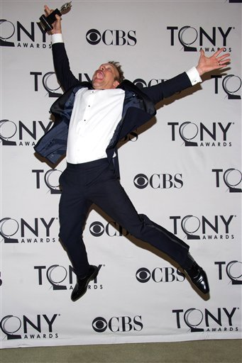 Norbert Leo Butz appears backstage at the 65th Annual Tony Awards in New York, Sunday, June 12, 2011.