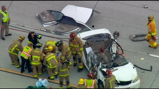 Drivers injured in chain-reaction crash on SR-125
