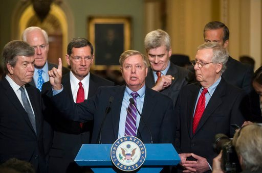 To win, 50 of the 52 GOP senators must back it _ a margin they failed to reach when the chamber rejected the effort in July. (AP Photo/J. Scott Applewhite)
