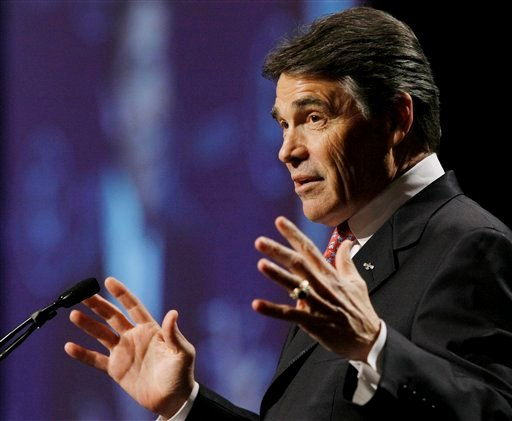 Texas Gov. Rick Perry speaks during the 28th annual National Association of Latino Elected and Appointed Officials conference, Thursday, June 23, 2011, in San Antonio.