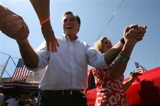 Former Massachusetts Gov. Mitt Romney and his wife Ann make an appearance at the Hires Big H Drive-in near the corner of 400 South and 700 East Friday, June 24, 2011 in Salt Lake City.