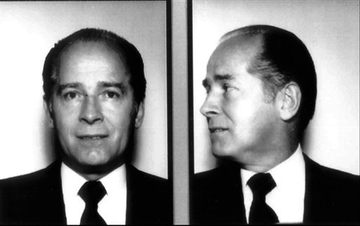 """FILE - In these 1984 file photos originally released by the FBI, New England organized crime figure James """"Whitey"""" Bulger is shown."""
