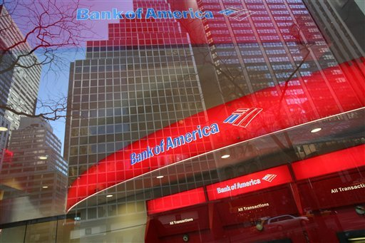 In this Jan. 25, 2009 file photo, a Bank of America branch office is shown in New York. The Bank of America said Tuesday, June 29, 2011 it will pay $8.5 billion to settle with investors over housing crash claims. (AP Photo/Mark Lennihan, file)