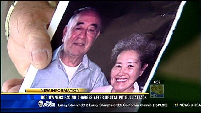 Emako Mendoza and her husband.