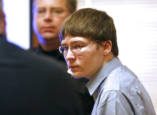 FILE - In this April 16, 2007, file photo, Brendan Dassey appears in court at the Manitowoc County Courthouse in Manitowoc, Wis.  (Dan Powers/The Post-Crescent, Pool, File)