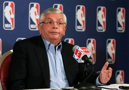 NBA commissioner David Stern speaks to reporters after a meeting with the players' union, Thursday, June 30, 2011 in New York.