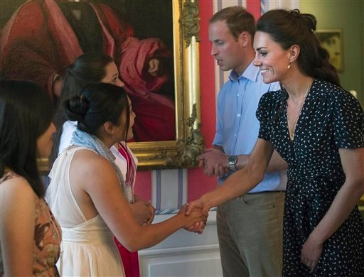 Prince William and wife Kate, the Duke and Duchess of Cambridge meet with people at a youth event in Ottawa, Ontario, on Thursday, June 30, 2011. (AP Photo/The Canadian Press, Nathan Denette)