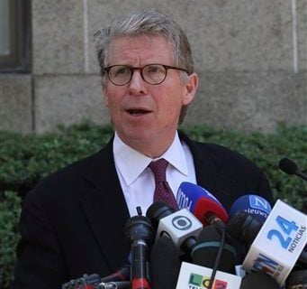 Manhattan District Attorney Cyrus Vance, Jr., speaks to reporters after outside New York Supreme court, Friday, July 1, 2011 in New York. (AP)