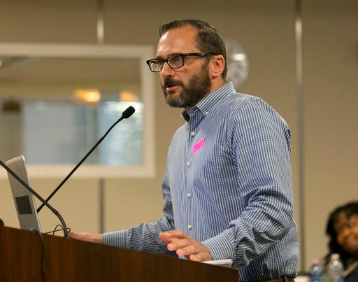Don Romesburg, of the Committee on LGBT History. It's the first textbook update since California passed a law making it the first state to require teaching about LGBT Americans. (AP Photo/Rich Pedroncelli)