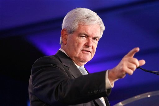 FILE - In this June 16, 2011 file photo, Republican presidential hopeful, former House Speaker Newt Gingrich speaks at the Republican Leadership Conference in New Orleans.
