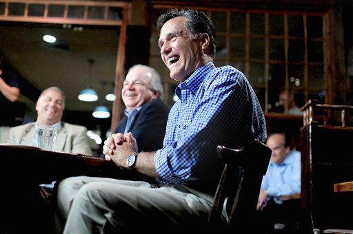 Republican presidential candidate, former Massachusetts Gov. Mitt Romney, meets with local business owners during a town hall meeting in Hampton, N.H., Tuesday, July 5, 2011.