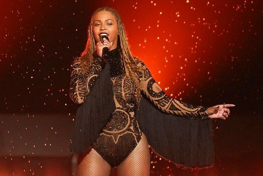 "Beyonce performs ""Freedom"" at the BET Awards in Los Angeles."