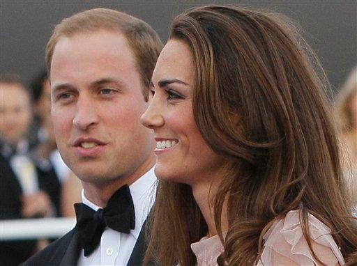 FILE -- Britain's Prince William, the Duke of Cambridge, and his wife Kate, Duchess of Cambridge arrive at a charity event for Absolute Return for Kids, ARK, in London, in this Thursday, June, 9, 2011 file photo.