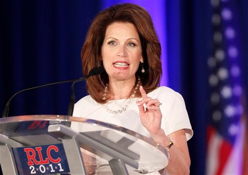 Republican presidential hopeful, Rep. Michele Bachmann, R-Minn., speaks at the Republican Leadership Conference in New Orleans, Friday, June 17, 2011.