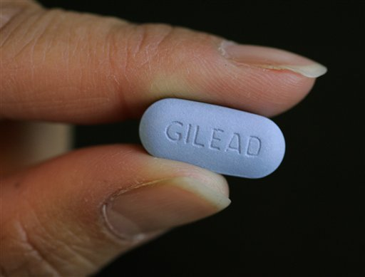 This Monday, May 26, 2006 file picture shows Gilead Sciences Inc.'s Truvada pill in their lab in Foster City, Calif. (AP Photo/Paul Sakuma)