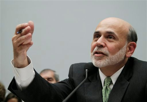 Federal Reserve Chairman Ben Bernanke testifies on Capitol Hill in Washington, Wednesday, July 13, 2011, before the House Financial Services Committee where he delivered the semiannual Monetary Policy Report.