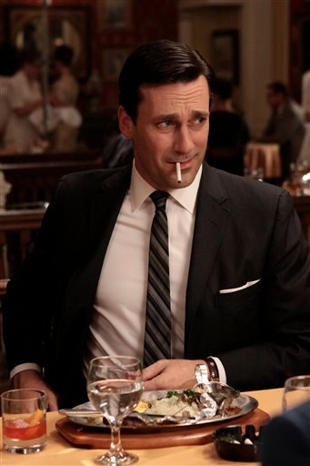 "In this publicity image released by AMC, Jon Hamm portrays Don Draper in the AMC series, ""Mad Men."""