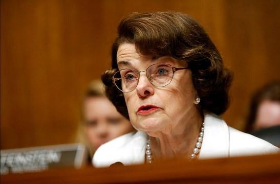 Sen. Dianne Feinstein, D-Calif., ranking member on the Senate Judiciary Committee, speaks on Capitol Hill.