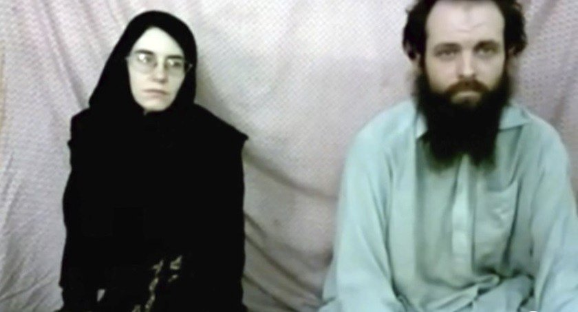 2013 video released by the Coleman family shows Caitlan Coleman and her husband, Canadian Joshua Boyle.