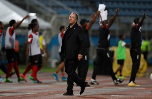 United States coach Bruce Arena stands on the sideline during a 2018 World Cup qualifying soccer match against Trinidad and Tobago in Couva, Trinidad, Tuesday, Oct. 10, 2017
