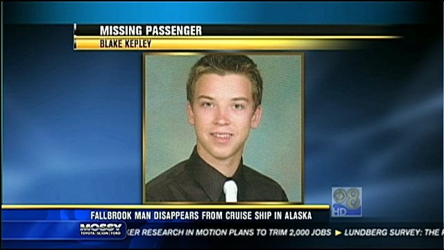 20-year-old Blake Kepley disappeared while on vacation with his family in Alaska.