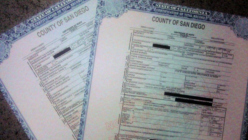 "Death certificates for Rebecca Zahau, 32, and Maxfield Shacknai, 6, list cause of death as ""pending"""