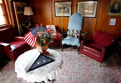 Gen. John Joseph Pershing's room is seen at Walter Reed Army Medical Center in Washington, Thursday, July 21, 2001. (AP Photo/Luis M. Alvarez)