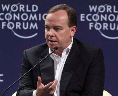 In this June 13, 2011 file photo, HSBC Group Chief Executive Stuart Gulliver gestures as he speaks during a session at the World Economic Forum on East Asia in Jakarta, Indonesia. (AP)