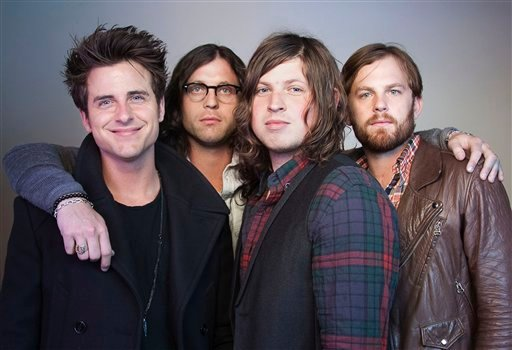 FILE - In this Oct. 21, 2010 file photo, members of the band Kings of Leon, from left, Jared Followill, Nathan Followill, Matthew Followill and Caleb Followill, pose for a portrait in New York.