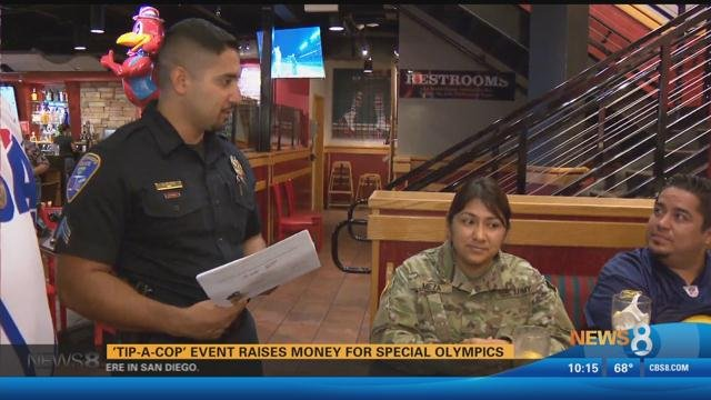 Cops Serving Dinner To Benefit Special Olympics