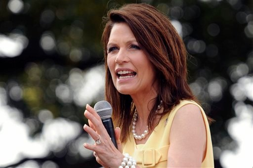 FILE - In this June 29, 2011 file photo, Republican presidential candidate, Rep. Michele Bachmann, R-Minn., speaks in Charleston, S.C.