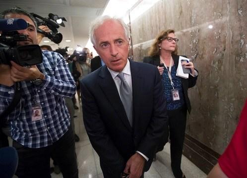 Senate Foreign Relations Committee Chairman Sen. Bob Corker, R-Tenn., walks on Capitol Hill.