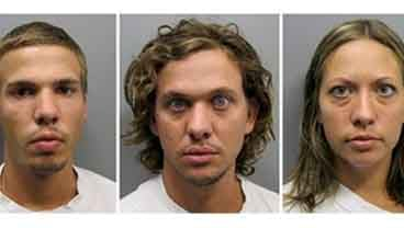 This combo made from photos provided Aug. 11, 2011 by the Pueblo County Sheriff's Office shows, from left, Ryan Edward Dougherty, 21, Dylan Dougherty Stanley, 26, Lee Grace Dougherty, 29. (AP Photo/Pueblo County Sheriff's Office)